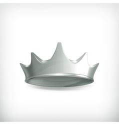 Silver crown vector image vector image