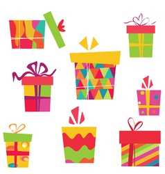 simple gift boxes vector image vector image