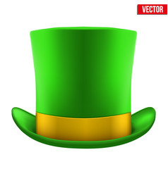 St patrick hat isolated on white background vector