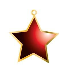 Star merry christmas design vector