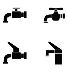 tap icon set vector image vector image