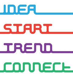 Words - idea start trend connect for lay vector image