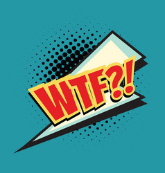 wtf lightning comic word vector image