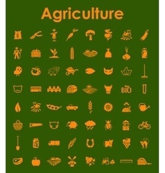 Set of agriculture simple icons vector