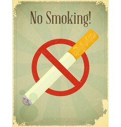 Sign no smoking vector