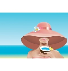 Sexy face in hat vector