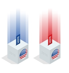 Us election 2016 infographic ballot box for an vector
