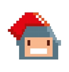 Game warrior pixelated icon vector