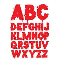 Grunge font alphabet vector