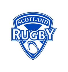 Rugby ball shield scotland flag vector