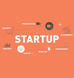 startup vector image