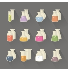 Chemical and science flask vector