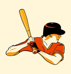 baseball hero vector image