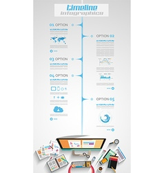 Infographic teamwork and brainstorming with flat vector