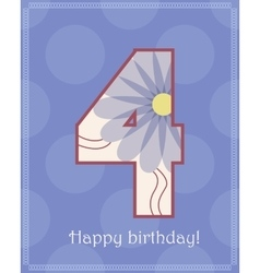 Happy birthday four card vector