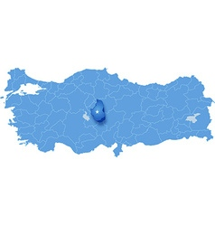 Map of turkey nevsehir vector
