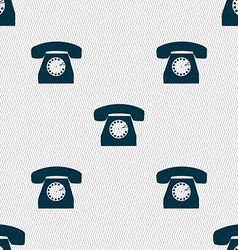 Retro telephone icon symbol seamless abstract vector