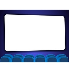 Cinema auditorium with screen vector image