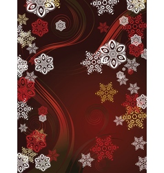 Red background with snowflakes3 vector