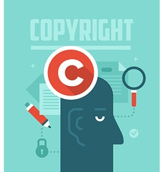 Copyrighting concept vector