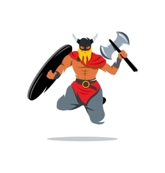 Viking warrior cartoon vector