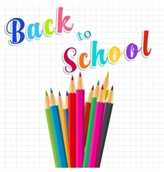 Back to school message on paper vector