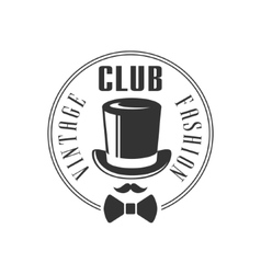 Vintage fashion club label design vector