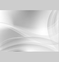 abstract white and gray waves background vector image vector image