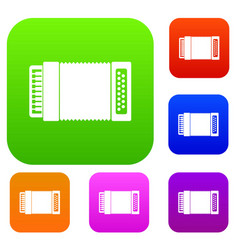 Accordion set collection vector