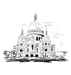 basilica vector image