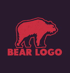 bear logo element vector image vector image