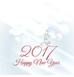 Beautiful floral style 2017 happy new year design vector