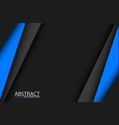 black and blue modern material design background vector image