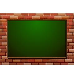 Blackboard on the brick wall vector