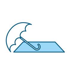Blue beach elements cartoon vector