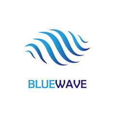 blue water wave logo aqua spa wellness logotype vector image vector image