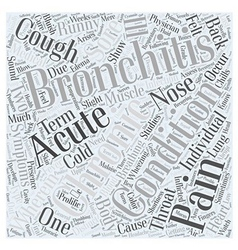 Bronchitis symptom word cloud concept vector