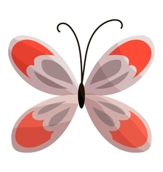 Butterfly icon cartoon style vector