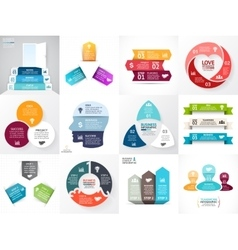 circle arrows infographic set Business vector image vector image