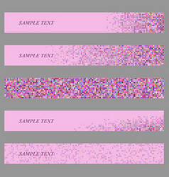 Colored square mosaic web banner design set vector image vector image