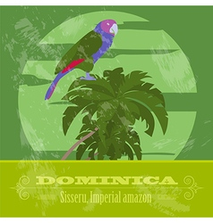 Dominica national symbols sisseru parrot imperial vector