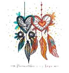 Dream catcher with love vector