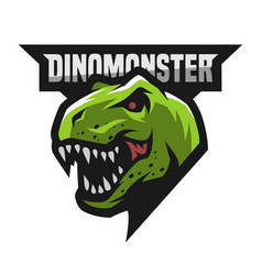 ferocious dinosaur logo vector image