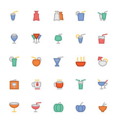 Food colored icons 8 vector