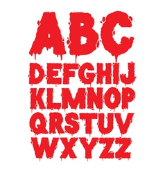 grunge font alphabet vector image vector image