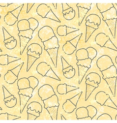 Grunge seamless pattern pattern with ice cream vector