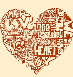 HeartWords2 vector image