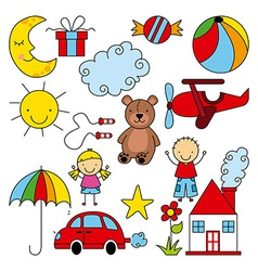 Kids design vector