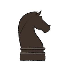 Knight chess piece vector