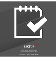 Notepad paper Documents Flat modern web button vector image